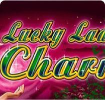 Темно-розовая картинка, обложка игры Lucky Lady's Charm на сайте онлайн казино ПлейФортуна